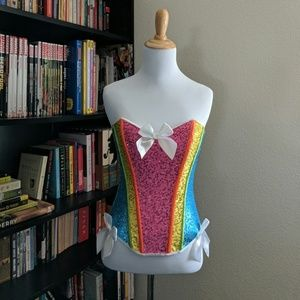 Other - Rainbow sequined Strapless Corset